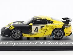 Porsche 718 Cayman GT4 Clubsport 2019 #4 黄色 / 黒 1:43 Minichamps