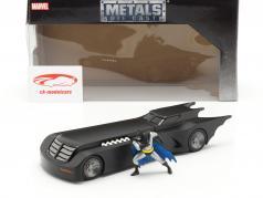 Batmobile & Batman Figur Animated Series schwarz 1:24 Jada Toys