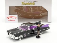 Cadillac Coupe DeVille 1959 com figura Catwoman DC Comics 1:24 Jada Toys