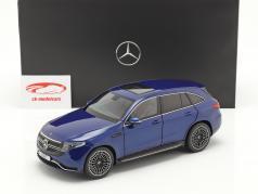 Mercedes-Benz EQC 4Matic (N293)  ano de construção 2019 brilhante azul 1:18 NZG