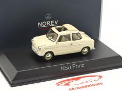 NSU Prinz II ano de construção 1959 bege 1:43 Norev