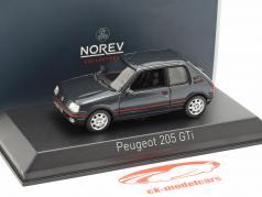 Peugeot 205 GTi 1,9 ano de construção 1992 cinza escuro metálico 1:43 Norev