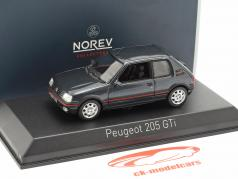 Peugeot 205 GTi 1,9 year 1992 dark gray metallic 1:43 Norev