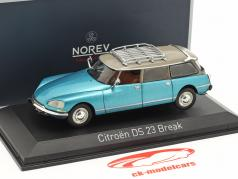 Citroen DS 23 Break Opførselsår 1974 delta blå metallisk 1:43 Norev
