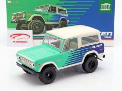 Ford Bronco Falken Tires ano de construção 1976 verde / azul / branco 1:18 Greenlight