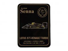 Ayrton Senna boutons 1er victoire Portugal GP formule 1 1985 classique équipe lotus