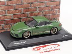 Porsche 911 (991 II) GT3 Touring Package fábrica 1 auratium verde 1:43 Minichamps