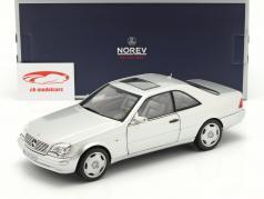 Mercedes-Benz CL600 Coupe (C140) Baujahr 1997 silber metallic 1:18 Norev