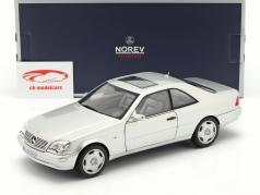 Mercedes-Benz CL600 Coupe (C140) Bouwjaar 1997 zilver metalen 1:18 Norev