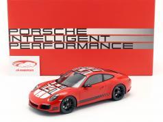 Porsche 911 (991) Carrera S Endurance Racing Edition 2016 vermelho com mostruário 1:18 Spark