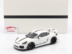 Porsche Cayman GT4 ano de construção 2016 branco com mostruário 1:18 Spark