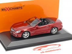 Mercedes-Benz Classe SL (R230) ano de construção 2008 vermelho metálico 1:43 Minichamps