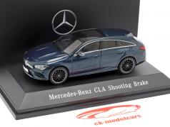 Mercedes-Benz CLA Shooting Brake (X118) Opførselsår 2019 denim blå 1:43 Spark