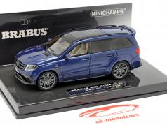 Brabus 850 Widestar XL baseado em AMG GLS 63 2017 azul metálico 1:43 Minichamps