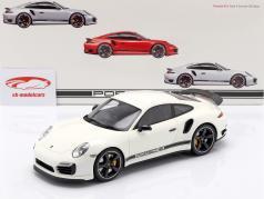 Porsche 911 (991) Turbo S Exclusive GB RHD white with Showcase 1:18 GT-Spirit