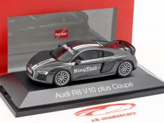 Audi R8 V10 Plus Ring Taxi Nürburgring gris oscuro metálico 1:43 Herpa