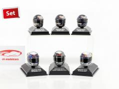 6pcs Set Sebastian Vettel Red Bull casque collection 2009-2010 1:8 Minichamps