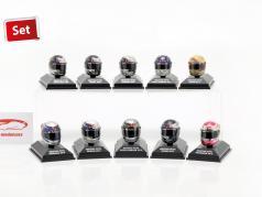 10pcs Set Sebastian Vettel Red Bull casque collection 2009-2012 1:8 Minichamps