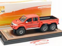 Toyota Hilux AT44 6x6 Arctic Truck Pick-Up 2014 escuro laranja 1:43 GLM