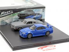 2-Car conjunto Chevrolet Chevelle SS e Nissan Skyline GT-R Fast and Furious 1:43 Greenlight