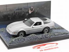 Chevrolet Corvette Auto James Bond-film The Living Daylights zilveren 1:43 Ixo