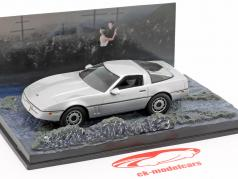 Chevrolet Corvette coches James película de James Bond The Living Daylights plata 1:43 Ixo