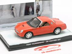Ford Thunderbird auto James film di James Bond Die Another Day arancione 1:43 Ixo