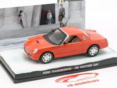 Ford Thunderbird James Bond Movie Car Stirb an einem anderen Tag orange 1:43 Ixo