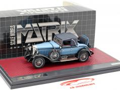 Mercedes-Benz 630K Sport Cabriolet Hibbard and Darrin Closed Baujahr 1927 blau 1:43 Matrix