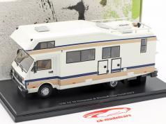 Volkswagen VW LT 50 Niesmann en Bischoff Clou Trend 650 F Bouwjaar 1988 wit 1:43 AutoCult