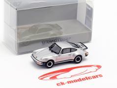 Porsche 911 Turbo (930) ano de construção 1977 prata 1:87 Minichamps