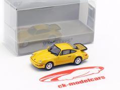 Porsche 911 Turbo (964) ano de construção 1990 amarelo 1:87 Minichamps