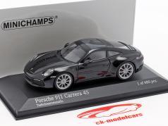 Porsche 911 (992) Carrera 4S ano de construção 2019 preto metálico 1:43 Minichamps