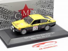 Opel Kadett C GT/E #13 Mintex Rallye 1977 Röhrl, Broad 1:43 CMR