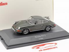Porsche 911 S Steve McQueen MovieCar film Le Mans (1971) grå 1:43 Schuco