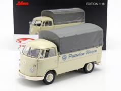 Volkswagen VW T1b 平台车 同 篷布 建造年份 1959-63 米色 1:18 Schuco