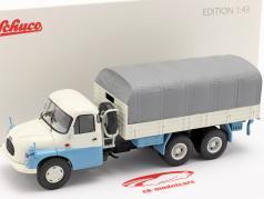 Tatra T138 Pick-Up Truck blau / weiß / grau 1:43 Schuco