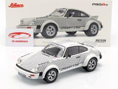 Porsche 911 Walter Röhrl x 911 branco / preto 1:18 Schuco