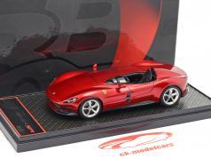 Ferrari Monza SP1 year 2018 magma red metallic 1:43 BBR