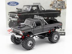 Ford F-250 Monster Truck with 48-inch tires year 1979 black 1:18 Greenlight