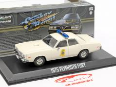 Plymouth Fury Mississippi Highway Patrol Smokey e o bandido 1977 branco 1:43 Greenlight