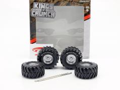 48-inch Monster Truck Firestone roda e pneu conjunto 1:18 Greenlight