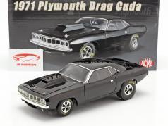 Plymouth Hemi Cuda Dragcar 1971 negro 1:18 GMP