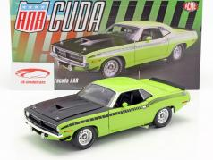 Plymouth Barracuda AAR Construction year 1970 sublime green 1:18 GMP