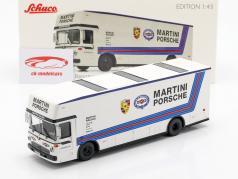 Mercedes-Benz O 317 raça caminhão Porsche Martini Racing branco 1:43 Schuco