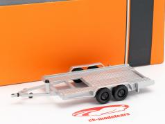Car trailer silver 1:43 Ixo