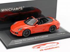 Porsche 911 (991 II) Carrera 4 GTS cabriolé 2016 lava laranja 1:43 Minichamps