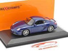 Porsche Cayman S (987c) ano de construção 2005 azul metálico 1:43 Minichamps