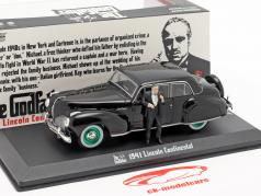 Lincoln Continental 1941 Movie The Godfather with figure black / green 1:43 Greenlight