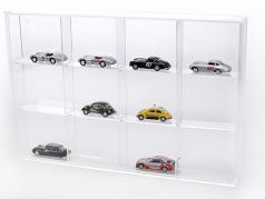 Lille Showcase fra Akryl glas 12 hylde 300 x 200 x 30 mm SAFE